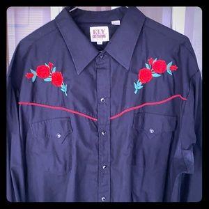 Mens Western Rockabilly Shirt XXL Excellent shape